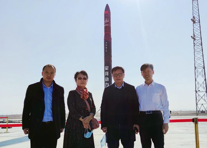 集美控股集团参股投资的商业固体运载火箭在酒泉卫星发射中心第一次正式升空
